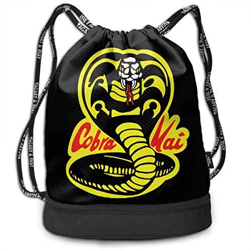 KINGAM Cobra Kai - Mochila deportiva con diseño de personalidad, color negro