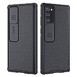 Nillkin Samsung Galaxy Note 20ケース、スライドカメラカバー付きCamShield Proシリーズケース、Samsung Galaxy Note20用のスリムでスタイリッシュな保護ケース-ブラック