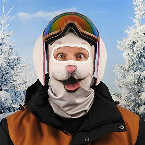 Beardo ® Pasamontañas HD original | Máscara de esquí, protección contra el frío, protección facial, pasamontañas (esquí Bunny, conejo de esquí, carnicero, conejo)