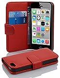 Cadorabo Coque pour Apple iPhone 5C en Rouge Cerise - Housse Protection en Similicuir Structuré...