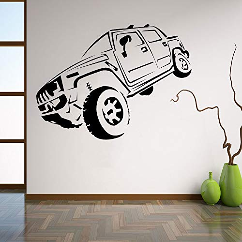 yaonuli Dekoration Personalisierte Wandaufkleber Schlafzimmer Sand Auto Vinyl Wandmalerei 50x59 cm