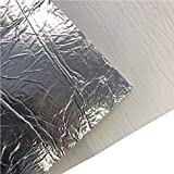 Flamado Hitzeschutz - Keramikfasermatte mit Alubeschichtung 600x300x5mm