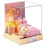 CUTEBEE Dollhouse Miniature with Furniture, DIY Dollhouse Kit Plus Dust Proof, 1:24 Scale Creative Room Idea(Crushing Moment)