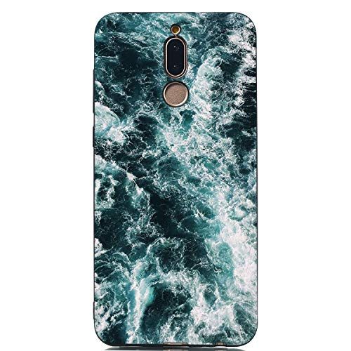 Everainy Kompatibel für Huawei Mate 10 Lite Hülle Silikon Bumper Gummi Cover Hüllen für Huawei Mate 10 Lite Handyhülle Stoßfest TPU Stoßstange Schutzhülle (Meer)