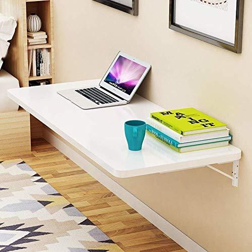GWNJSSD Wand Klapptisch, Esstisch Werkbank Küchenablage Studiertisch Computertisch Klappwand Tisch Klappbarer Wandtisch Glatt Verschleißfest,White-70 * 40cm