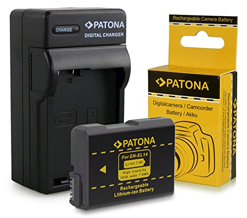 Caricatore + batteria EN-EL14 per Nikon D3100 | D3200 | D5100 | D5200 | P7000 | P7100 | P7700