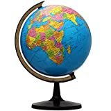 World Globe, 13'' Globe of Perfect Spinning Globe for Kids, Geography Teachers, Students, Easy to Rotate