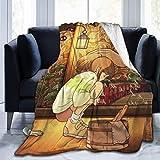 Yuanmeiju Spirited Away Ultra Soft Fleece Manta de Tiro Cozy Warm Plush Manta de Tiro Sofa Bed Couch