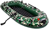 FJBenz Kayak for 4 People, 10-Foot Family Portable Excursion Inflatable Boat, with Inflatable Pump Rope Paddle, Suitable for Adults and Children, Portable Fishing Boat