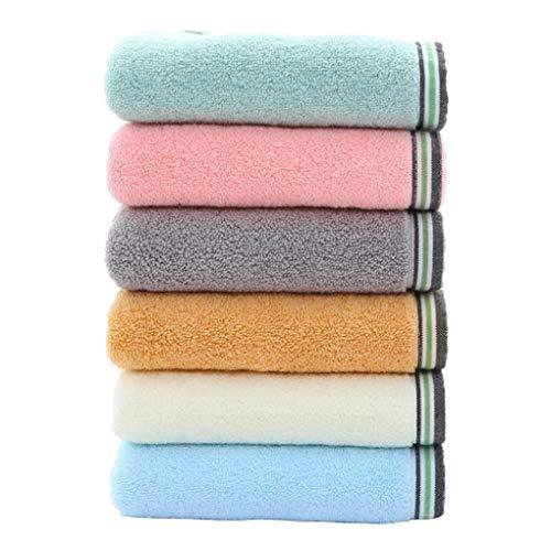 ACMEDE Asciugamani in Cotone Set di 6 Asciugamani Grandi - Asciugamani da Bagno Multiuso per Mano, Viso, Palestra e Spa 34 * 74CM