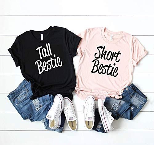 Best friend shirts, Tall Best Friend, Short Best Friend, bestie Tshirt, bff matching shirts, besties matching shirt, BFF, Best Friend Shirts D379