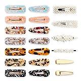 Litthing Horquillas Acrílicas Horquillas de Perla y Horquillas Metálica para el Cabello 20 Unidades Clips de Pelo Pinzas de Pelo Decorativas para Mujer y Muchacha
