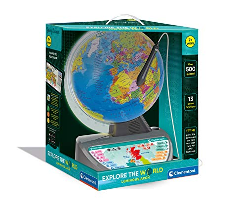 Clementoni - 61739 - Educational Talking Globe - Explore the World - educational and interactive globe for kids - globes world - interactive toy - English version