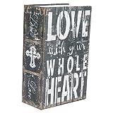 Libro secreto portátil, caja fuerte oculta de libro secreto con mini cerradura de combinación, caja de dinero de libro de diccionario de simulación de acero inoxidable, caja fuerte de gran capacidad