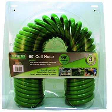 Flexon PCH5850 Coil Hose, Green, 50 feet