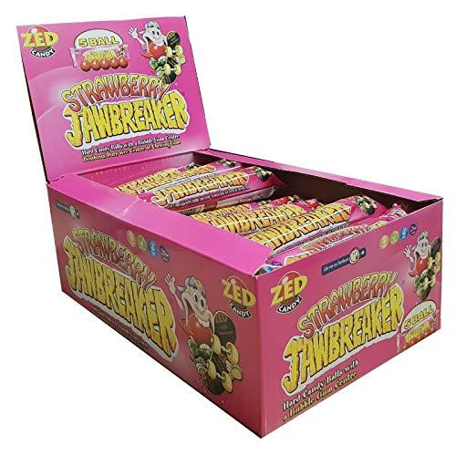( 30 Pack ) Zed Candy Strawberry Jawbreaker 41.3g