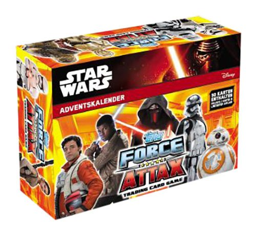 Topps d105363 – Calendario de Adviento Disney Star Wars Force Attax 2016, Multicolor