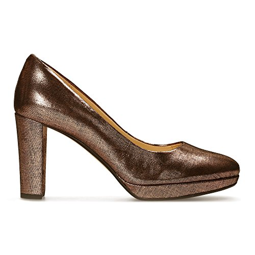 Clarks Damen Kendra Sienna Pumps, Beige (Copper Metallic), 40 EU