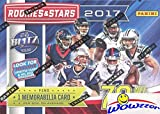 2017 Panini Rookies & Stars NFL Football EXCLUSIVE Factory Sealed Retail Box! This Awesome Factory Sealed Box features 70 Cards including EXCLUSIVE Star Search MEMORABILIA Card! Look for Rookies & Autographs of Patrick Mahomes, Deshaun Watson, Mitch ...