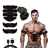 MATEHOM Electroestimulador Muscular, EMS Estimulador Muscular Abdominales con USB Recargable para Abdomen/Brazo/Piernas/Glúteos