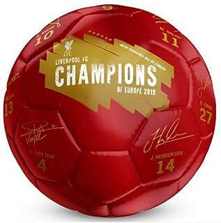 Red//White Liverpool F.C Unisex-Youth Splash Size 5 Football