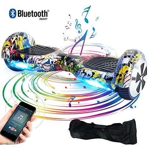 Windgoo Hoverboard Bluetooth 6,5 Pouces,Gyropode Smart Scooter 700W, Self Balance Board avec LED...