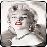 Surreal Entertainment CFB-MM Marilyn Monroe Black & White GRN Blanket, Multicolor