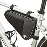 UBORSE Bolsa de Cuadro Triangular para Bicicleta Bolsa de Tubo Frontal Impermeable Bolsa de Accesorios de Ciclismo para MTB Paquete de Manillar de Bicicleta para teléfono, Llaves, Herramientas
