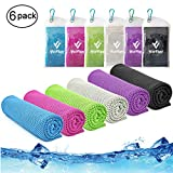 Best Cooling Neck Wraps - Cooling Towel,Vofler 6 Pack Cool Towels Microfiber Chilly Review