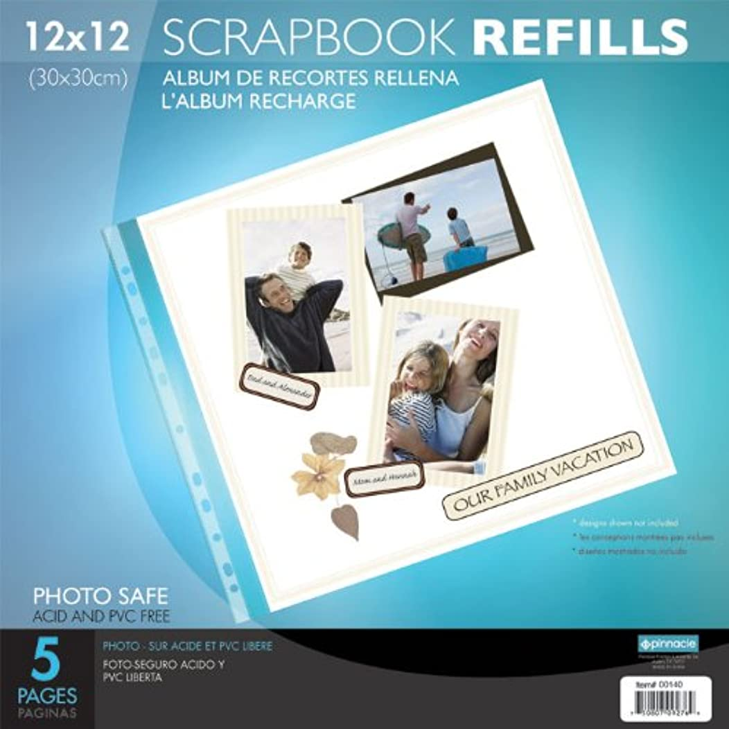 Pinnacle Frames 12-Inch by 12-Inch Refill Cardstock, 5-Pack