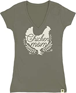 John Deere Womens Chicken Mom Ss Tee