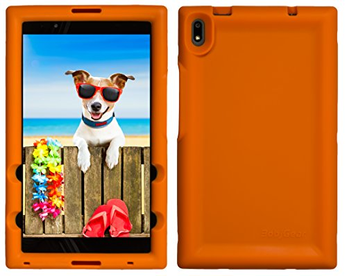 BobjGear Bobj Rugged Tablet Case for Lenovo Tab 4 8 Plus (TB-8704V, TB-8704F, TB-8704X, TB-8704A) - BobjBounces Kid Friendly (Outrageous Orange)