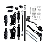 AstraDepot Compatible with Black Forward Controls Pegs Levers Linkage Kit Harley Sportster XL 883 1991-2003 92 93 94 95 96 97 98 99 2000 01 02 03