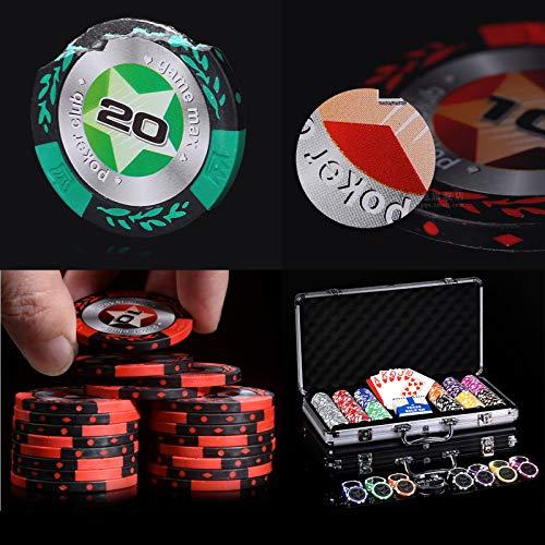 DBGA Pokerset mit 400 Clay-Chips | Pokerkoffer Alu | Pokerchips | Poker Komplett Set | Pokerkoffer mit Tuch /2 Pokerdecks/Dealerbutton/All-inbutton, Casino-Feeling, Profi Pokerspiel