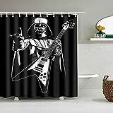 Rewe Home Badezimmer Duschvorhang,Heavy Metal Musik-Player-72 × 72