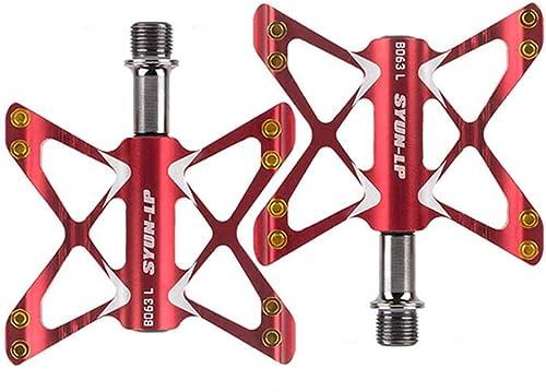 el mas de moda Pedal de de de bicicleta Antideslizante Durable Bicicleta de Montaña Pedales planos Cuerpo de aleación de aluminio 3 piezas Rodamientos sellados Bicicleta ultraligera Ciclismo de carretera Bicicleta ,1  clásico atemporal
