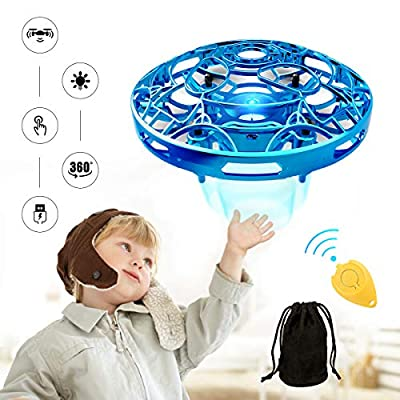 Pickwoo Mini Drone for kids, P10 UFO Drone Toy Hand Controlled Drone with LED Light, Kids Flying Ball Drone Indoor Outdoor games,Drone Toys Gift for Boys Girls