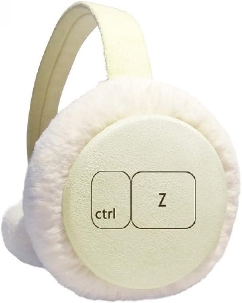 Keyboard Symbol ctrl Z Winter Ear Warmer Cable Knit Furry Fleece Earmuff Outdoor