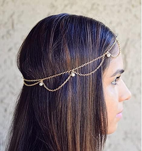 Rainny Haar-Accessoires Damen Quaste Kopfschmuck Kopfschmuck Haarschmuck Zubehör (Farbe: F-0239)