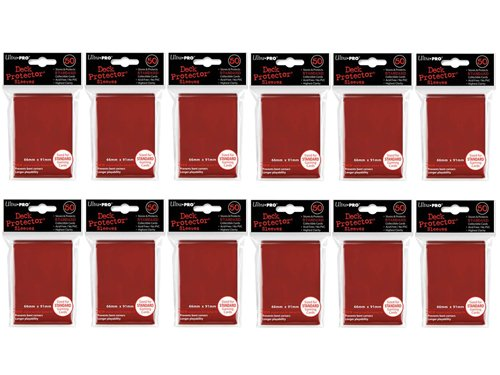 600 Ultra PRO Red Deck Protectors Sleeves Standard MTG Colors image