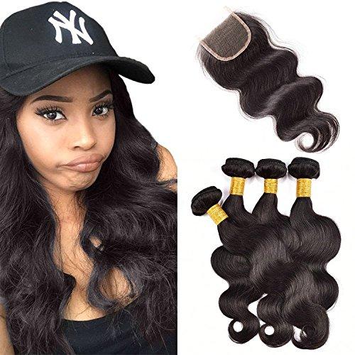 Originea TM 7 A 4 Bundle Deals de Malaisie Body Wave 100% Trame de cheveux naturels vierges avec fermeture Freestyle
