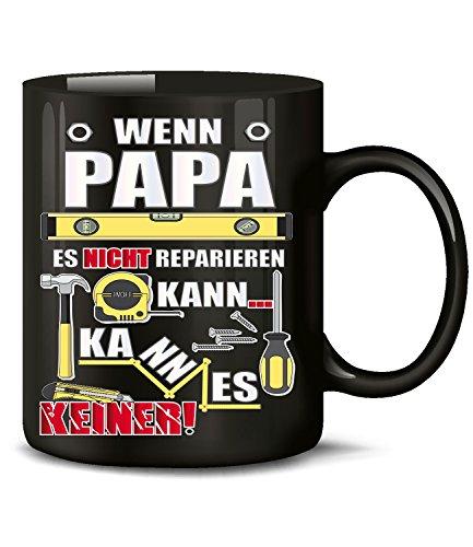Golebros Wenn Papa es Nicht reparieren kann kann es keiner 4802 Handwerker Kollege Arbeit Fun Tasse Geschenk Vatertag Becher Kaffeetasse Kaffee Männer Schwarz