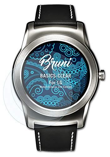 Bruni Schutzfolie kompatibel mit LG Watch Urbane 2nd Edition Folie, glasklare Bildschirmschutzfolie (2X)