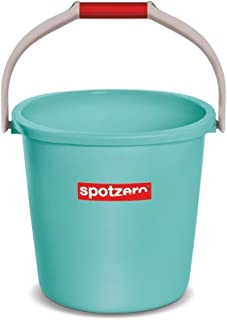 Spotzero Plastic Bucket, Aqua Green, 20 L (2 Pieces)