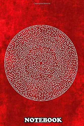 """Notebook: The Red Labyrinth , Journal for Writing, College Ruled Size 6"""" x 9"""", 110 Pages"""