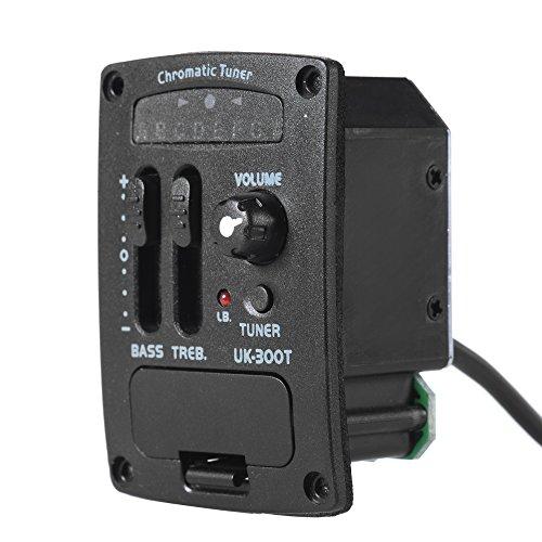 ammoon UK-300T Ukulele Ukelele Piezo Pickup Preamp 2-Band EQ Equalizer Tuner System