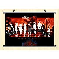 日本のアニメ メカクシティアクターズ ポスターハンギングウォールスクロール HD高品質 巻物アートワークアニメーション周辺機器 フレンドギフト-45x30cm/17.72x11.81inch