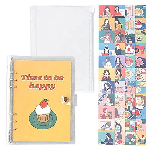 モノライク A5 ポール・イン・ニュートロ・ダイアリー セット タイム・トゥ・ビー・ハッピー - FALL IN NEWTRO Diary Set, Time to be happy 年間計画, 月間計画, 週間計画, スケジューラー, イラスト・ダイアリ