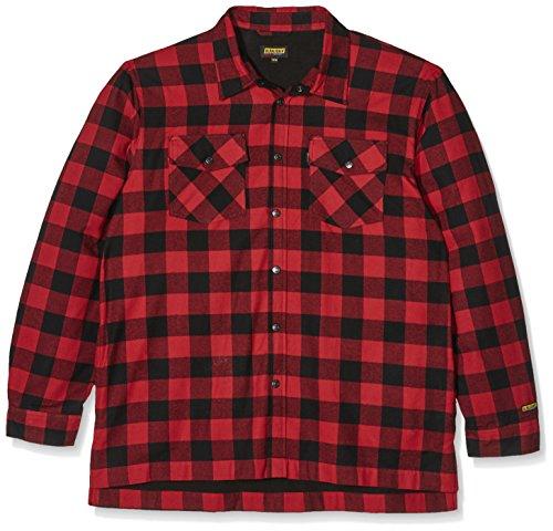 Blakläder Flannel-Hemd gefüttert Größe, 1 Stück, 4XL, rot/schwarz, 3225113156994XL