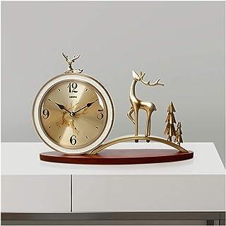 Alarm Clock تزوير الديكور المعدني الجدول ساعة خشبية الهيكل الجدول ساعة الأوروبي سطح مدار الساعة كتم ساعة كوارتز ساعة عالية...